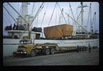 Image of [Unloading Benmore Dam power plant, Timaru] -