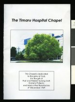 Image of The Timaru Hospital Chapel - Strang, Alma