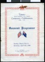 Image of Timaru, South Canterbury New Zealand : centennial celebrations 1840-1940 souvenir programme -