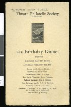 Image of Timaru Philatelic Society : 21st birthday dinner 1928/1949 -