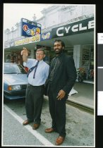 Image of Bruce McCully and John Achari - Timaru Herald Photographs, Personalities Collection