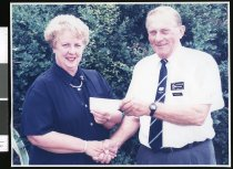Image of Charlie Ackland and Gaye Broker - Timaru Herald Photographs, Personalities Collection