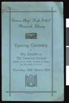 Image of TBHS Memorial Library opening