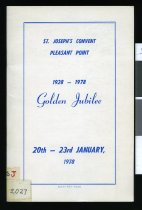 Image of St Joseph's Convent Pleasant Point : 1928 - 1978 Golden Jubilee -
