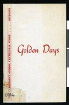 Image of Golden days : the Claremont School centennial story, 1878-1978 - Guthrie, Neville