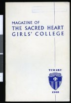 Image of Magazine of the Sacred Heart Girls College, 1968 -