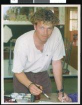 Image of Greg Allison, Twizel art teacher. - Timaru Herald Photographs, Personalities Collection