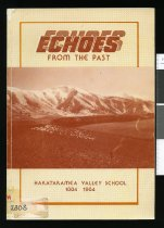 Image of Echoes from the past : Hakataramea Valley School, 1884-1984  - Ellis, Rosalie (ed.)
