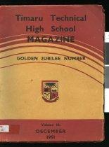 Image of Timaru Technical High School Magazine ; Golden Jubilee number - Gaudin