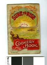 "Image of Recipe - Edmonds Cookery Book 3rd Edition. The multi coloured front cover has an image of a ship at sea with land behind with rays of the sun rising over the hills. Above the rays is ""Sure To Rise' and below is ""Cookery Book 3rd Edition"". Also printed is ""Light Baking"", ""Dainty Cooking"","