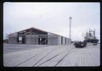 Image of [Transit shed construction, Timaru Harbour] -