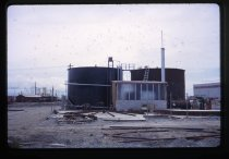 Image of [Tallow tank construction, Timaru Harbour] -