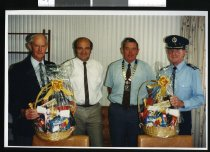 Image of Eric Jones, Steve Waller, Neil Anderson and Malcolm Campbell of Fairlie - Timaru Herald Photographs, Personalities Collection