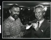 Image of Graeme Bennett and Ray Davis - Timaru Herald Photographs, Personalities Collection