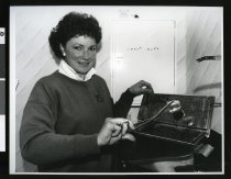 Image of Occupational Health Nurse Alison Beswarick - Timaru Herald Photographs, Personalities Collection