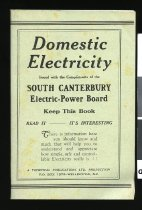 Image of Domestic electricity : issued with the compliments of the South Canterbury Electric-Power Board -