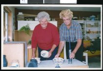 Image of Kelly Blackburn and Pam Buckingham  - Timaru Herald Photographs, Personalities Collection