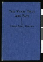 Image of The years that are past - Hamilton, Thomas Albert