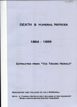 "Image of Death & funeral notices 1864 - 1899 : extracted from the ""Timaru Herald"" - McNicholl, Paul"