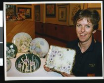 Image of Julie Brown, porcelain artist - Timaru Herald Photographs, Personalities Collection