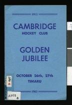 Cambridge Hockey Club : Golden Jubilee 1913-1963.