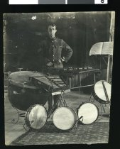 Image of Sergeant C Stewart of the Trentham Military Band, 1918 -