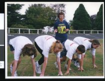 Image of Noni Callander and junior athletes - Timaru Herald Photographs, Personalities Collection