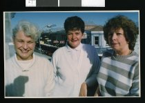Image of Annette Campbell, Margaret Saunders, and Merrill Dudley - Timaru Herald Photographs, Personalities Collection