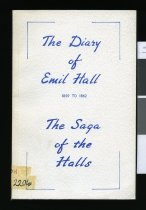 Image of The diary of Emil Hall from Copenhagen to Australia : written in 1859 in Danish Gothic script - Hall, Emil, 1838-1908