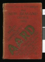 Image of New Zealand index : a valuable guide to every place in New Zealand [1930] -