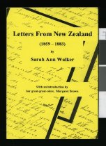 Image of Letters from New Zealand  (1859-1883) - Walker, Sarah Ann