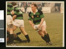 Image of Kevin Casey (with ball) - Timaru Herald Photographs, Personalities Collection