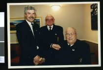 Image of Gavin Charteris, Norm Dickson and Tom Rooney - Timaru Herald Photographs, Personalities Collection