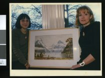 Image of Fiona Ciaran and Kate Woodall - Timaru Herald Photographs, Personalities Collection