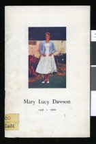 Image of Mary Lucy Dawson 1936-1960 : a life lived for a purpose and a plan for the future -