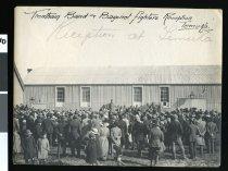 Image of Trentham Band & Bayonet fighters Reception Temuka. Reception at Temuka -