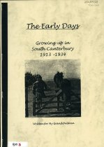 Image of The early days : growing up in South Canterbury 1913-1934 - Skelton, Ellen Jessie