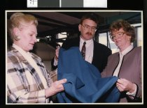 Image of Barbara McTigue, Alistair Coleman and Joan Bolger - Timaru Herald Photographs, Personalities Collection