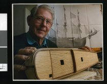Image of Timaru model-maker Bart Conroy - Timaru Herald Photographs, Personalities Collection