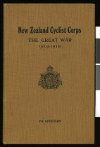 Image of Regimental history of New Zealand Cyclist Corps in the Great War, 1914-1918  -