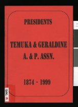 Image of Temuka & Geraldine A & P Assn, 1874-1999 : short biographies of the presidents of the Temuka and Geraldine Agricultural and Pastoral Association - Burdon, Anne C