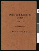 Image of Peter and Elizabeth Leitch, 1839-1924 : a short family history.  -