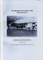 Image of The Hermitage stables : the archaeology - Watson, Katharine