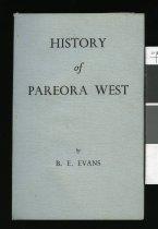 Image of History of Pareora West - Evans, Benjamin Edward, 1880-