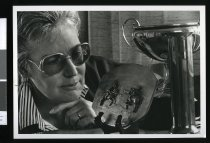 Image of Ceramic sculptor Susan Cuthill - Timaru Herald Photographs, Personalities Collection