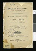 Image of The Waikakahi Settlement, Canterbury, New Zealand  -