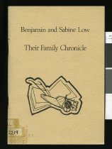 Image of Benjamin and Sabine Low : their family chronicle, written for the centennial of their arrival in New Zealand  - Low, Eric