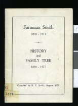 Image of Furneaux Smith, 1839-1913 : history and family tree, 1839-1975  - Smith, R F