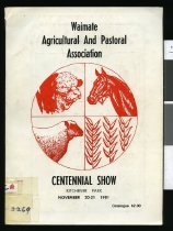 Image of Waimate Agricultural and Pastoral Association : catalogue of  entries : Centennial Show, Kitchener Park    -