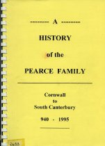 Image of A history of the Pearce family : Cornwall to South Canterbury 940-1995                                                                                                                        - Pearce, Donald